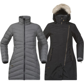 Bergans Sagene 3in1 Coat Women Outer:Black/Inner:SolidDkGrey